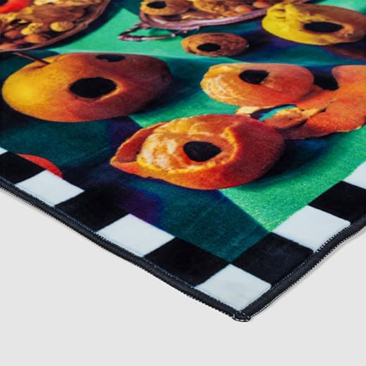 Seletti Wears Toiletpaper Rug:スクエア Food with Holes