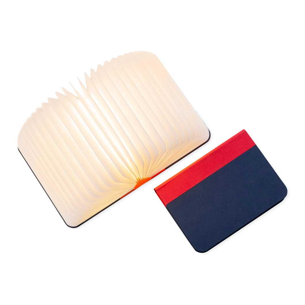 Lumiosf Fabric ブックランプ レッド/ネイビーの商品画像