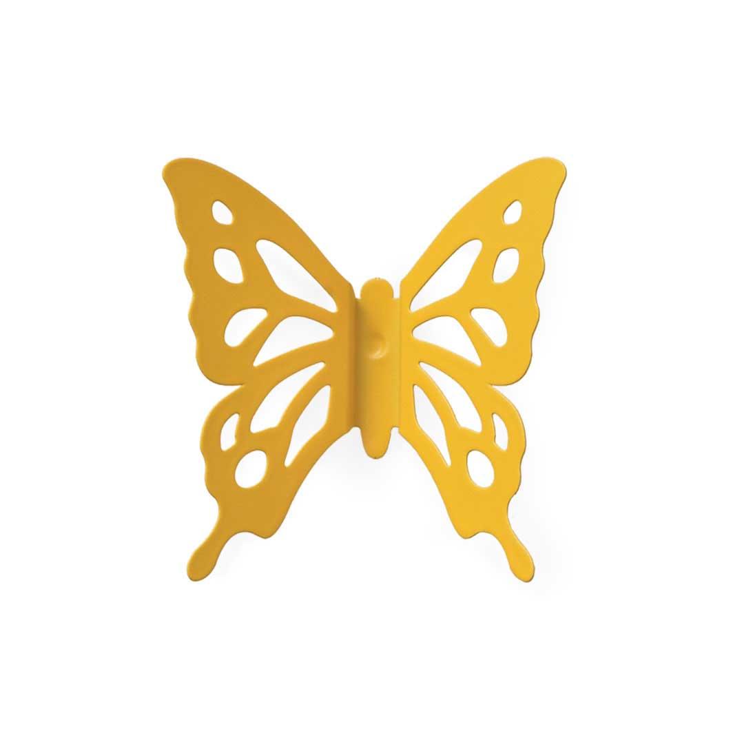 バタフライ ピンバッジ イエローの商品画像