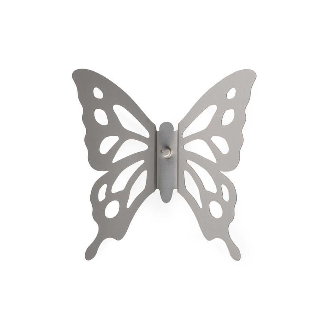バタフライ ピンバッジ シルバーの商品画像