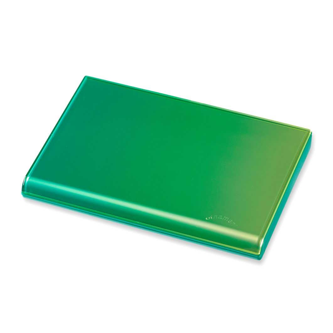 <MoMA> グラデーション カードケース グリーン/イエロー