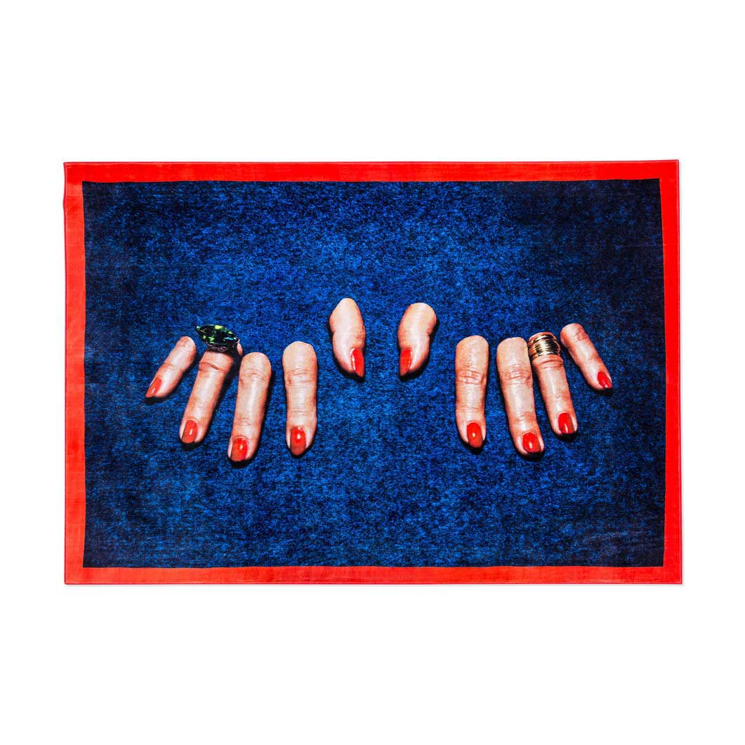 Seletti Wears Toiletpaper Rug:スクエア Fingersの商品画像