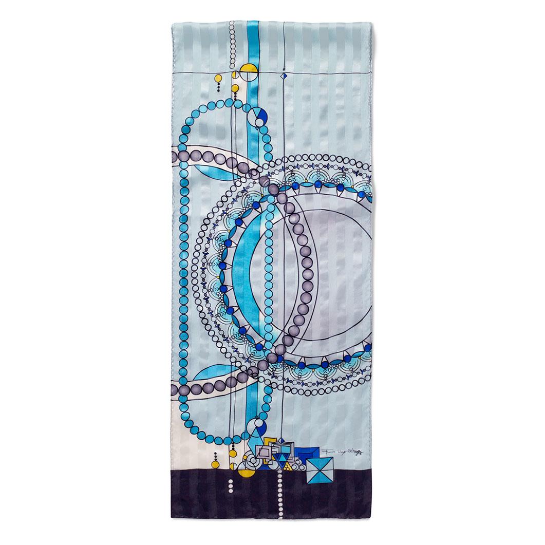 MoMA FLW ジュエリーショップウインドー スカーフ ブルーの商品画像