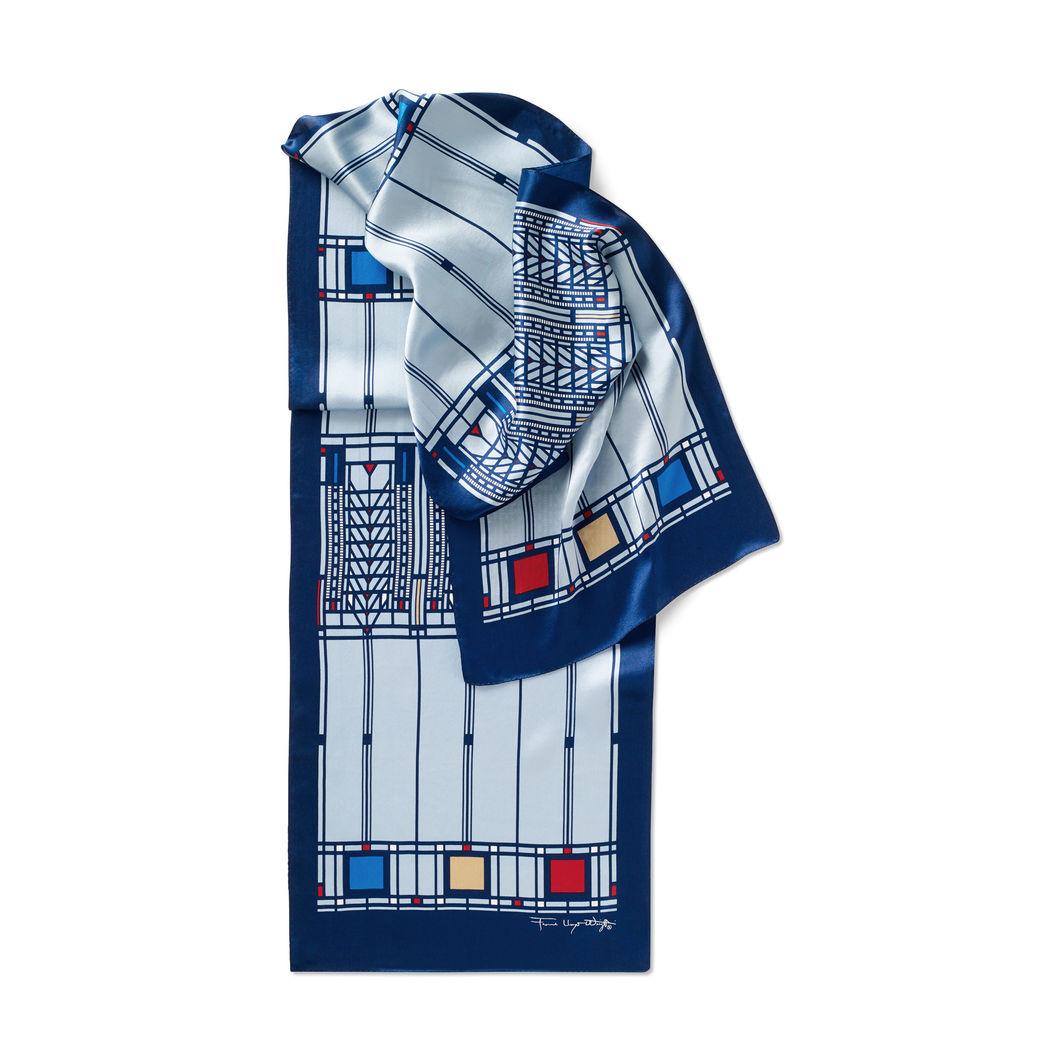 MoMA FLW ツリーオブライフ スカーフ ブルーの商品画像