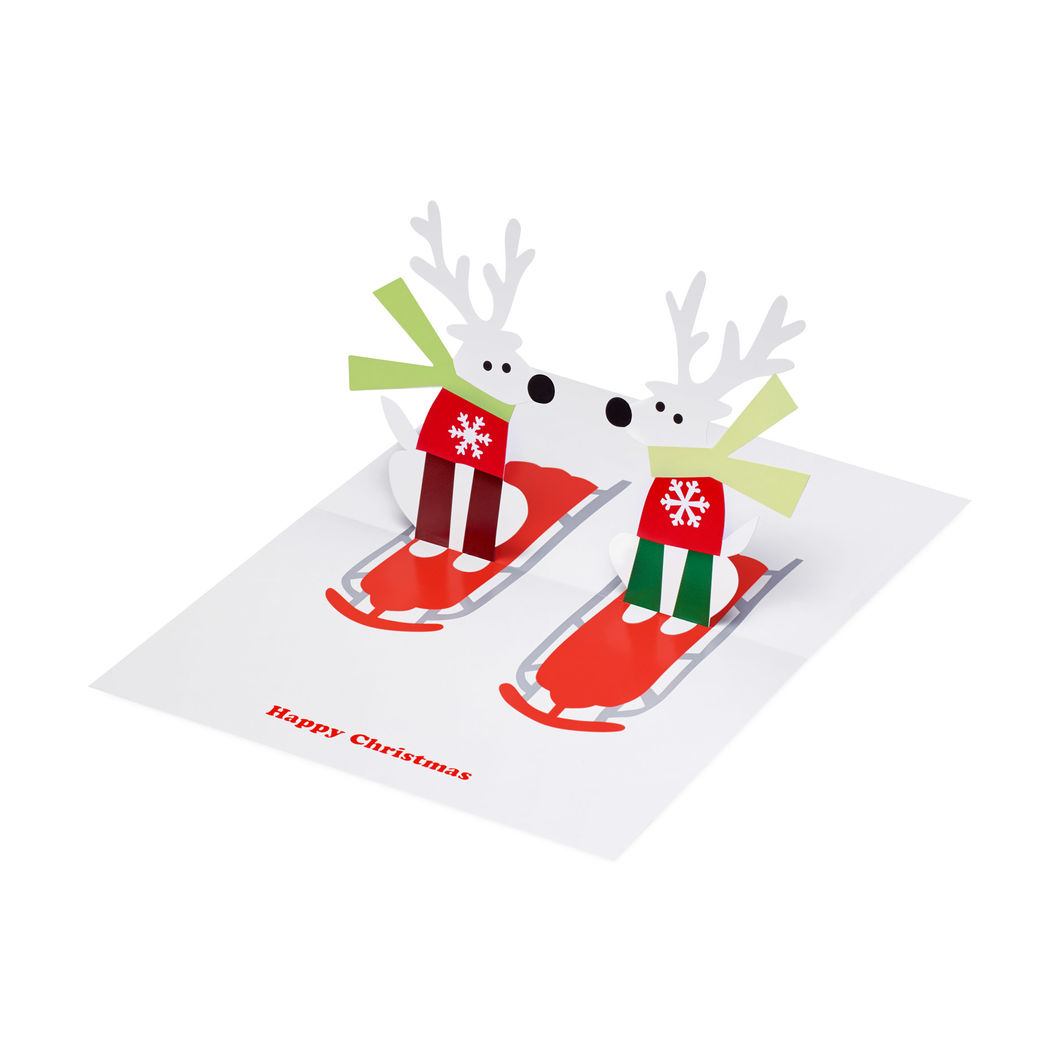 MoMA クリスマスカード トナカイ & ソリ (8枚セット)の商品画像