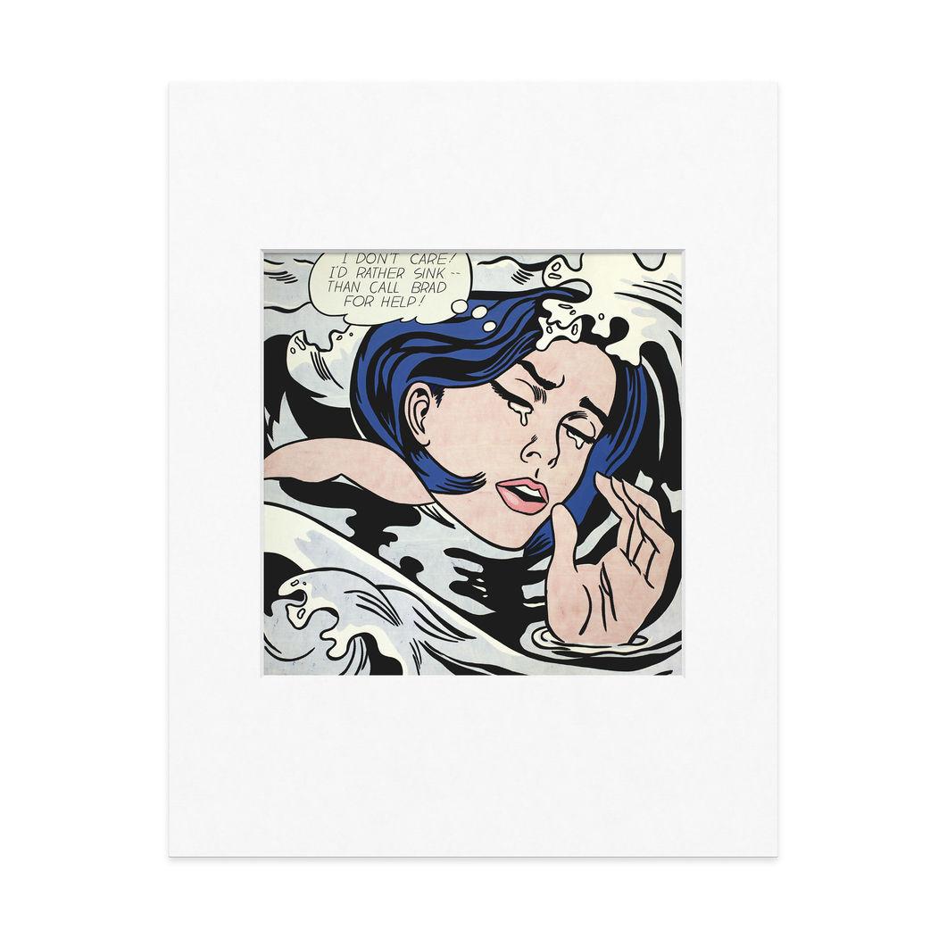 リキテン:Drowing Girl 11x14 マット付の商品画像