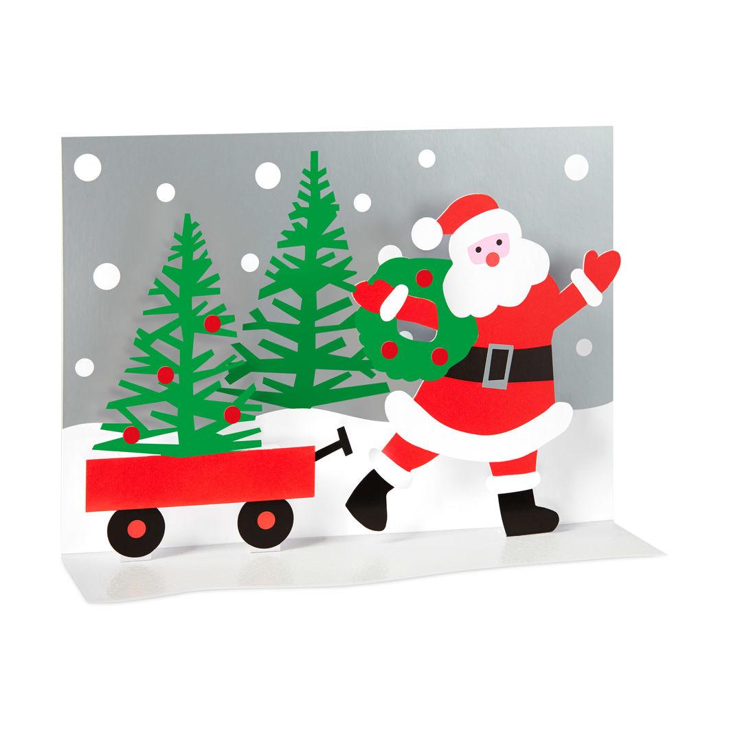 MoMA クリスマスカード サンタのワゴン (8枚セット)の商品画像