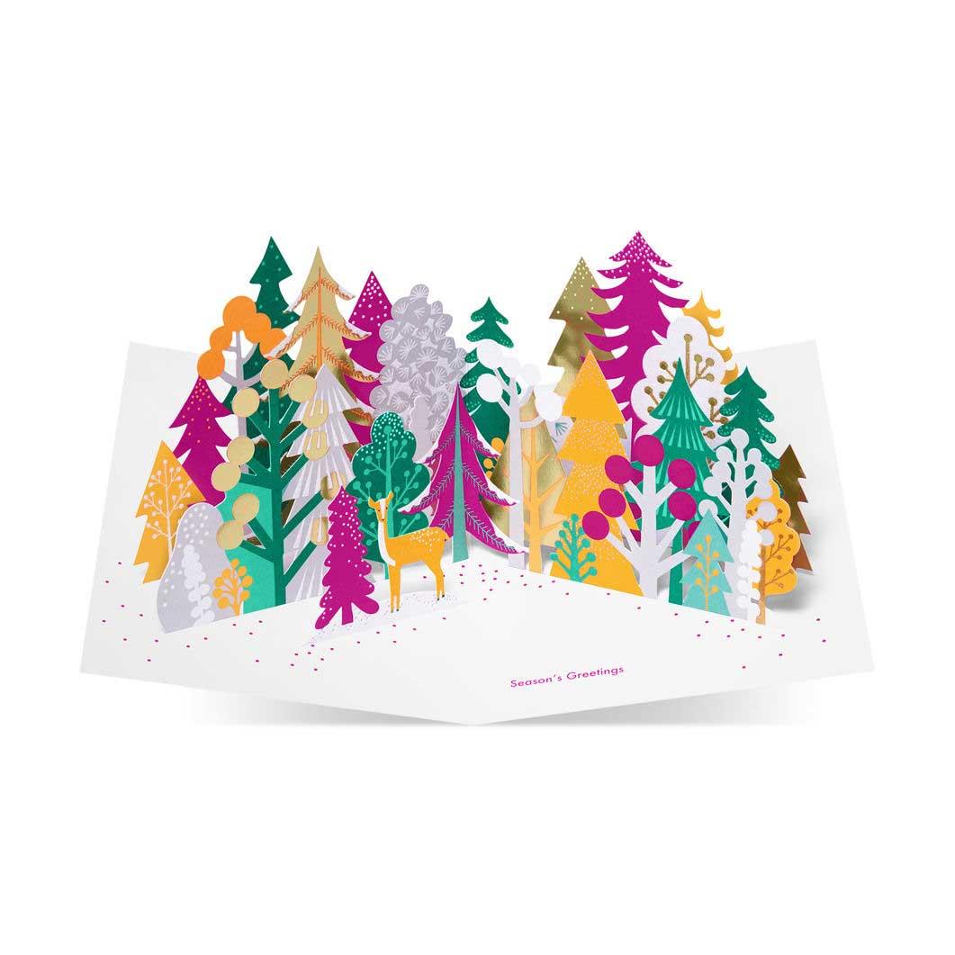 MoMA クリスマスカード カラフルフォレスト (8枚セット)の商品画像