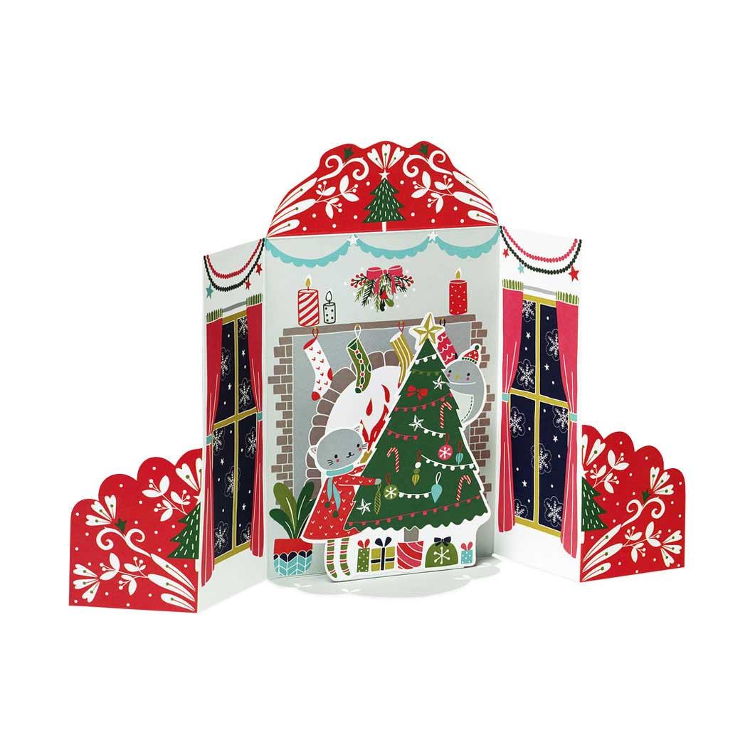 MoMA クリスマスカード 暖炉 (8枚セット)の商品画像