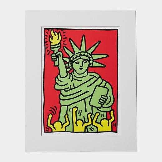 キース・へリング:リバティ マット付ポスターの商品画像