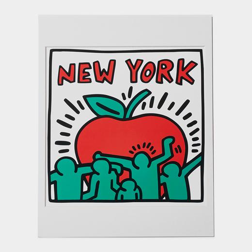 キース・へリング:NY アップル マット付ポスターの商品画像