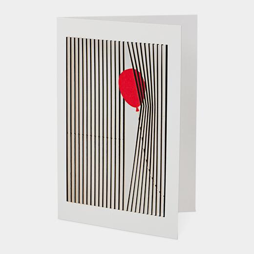 メッセージカード レーザーダイカット バルーンの商品画像