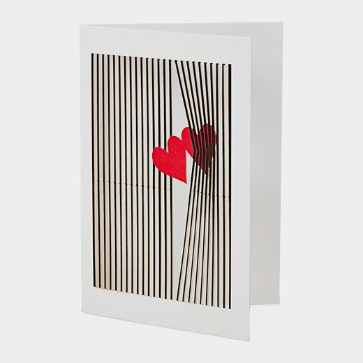 メッセージカード レーザーダイカット ハートの商品画像