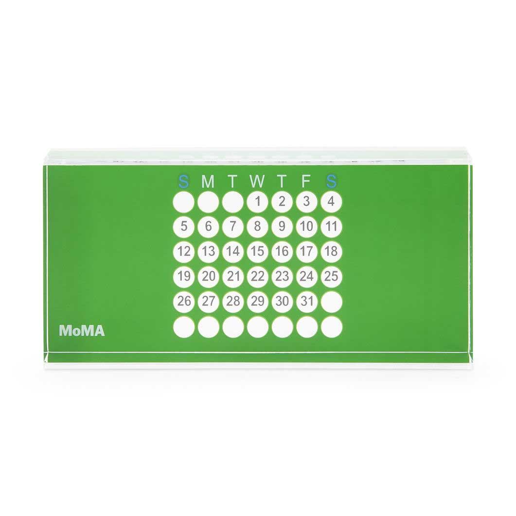 MoMA アクリル万年カレンダー グリーンの商品画像