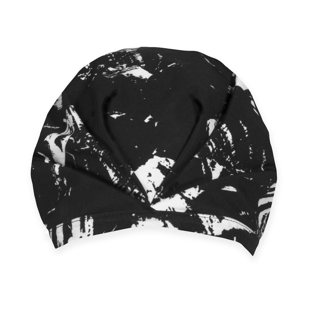 シャワーキャップ ブラック/ホワイトの商品画像