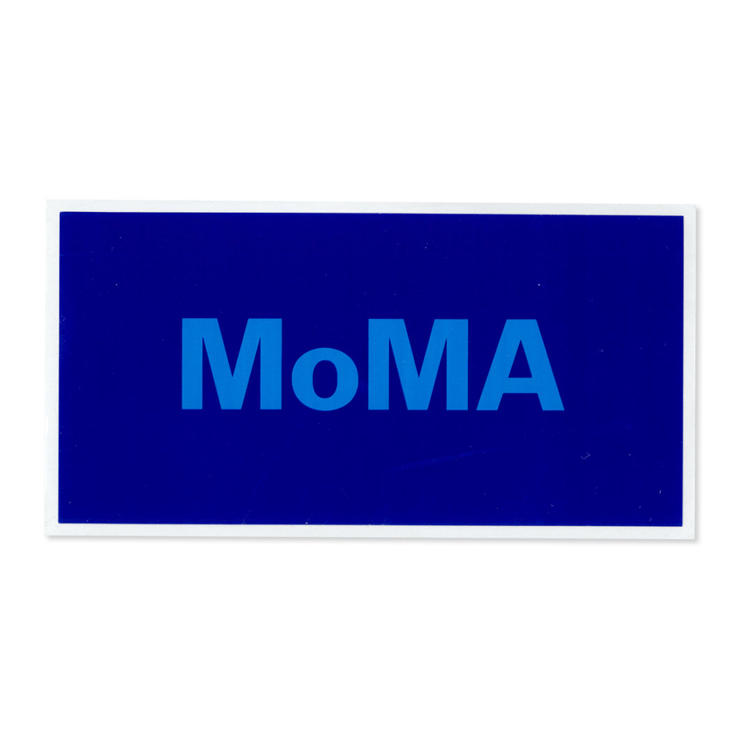 MoMA STOREMoMA デュオカラー ステッカー ブルー