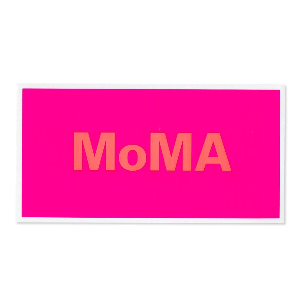 MoMA STOREMoMA デュオカラー ステッカー ピンク