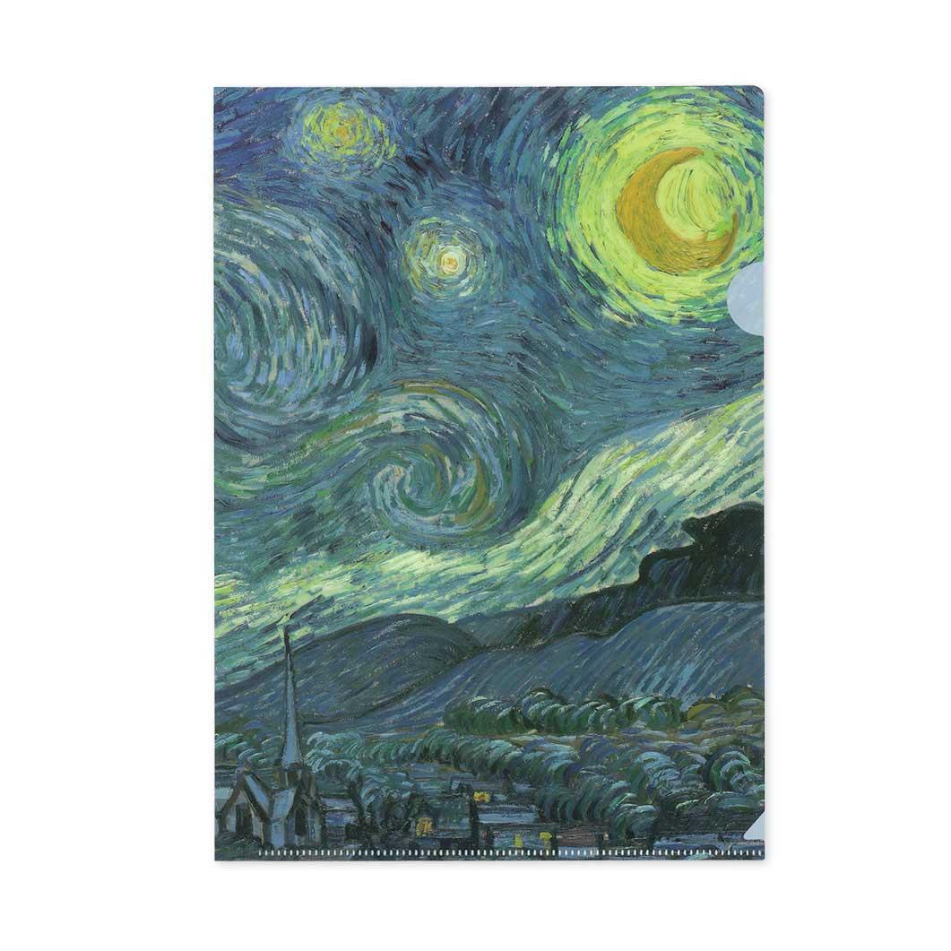 MoMA ゴッホ:Starry Night クリアフォルダーの商品画像