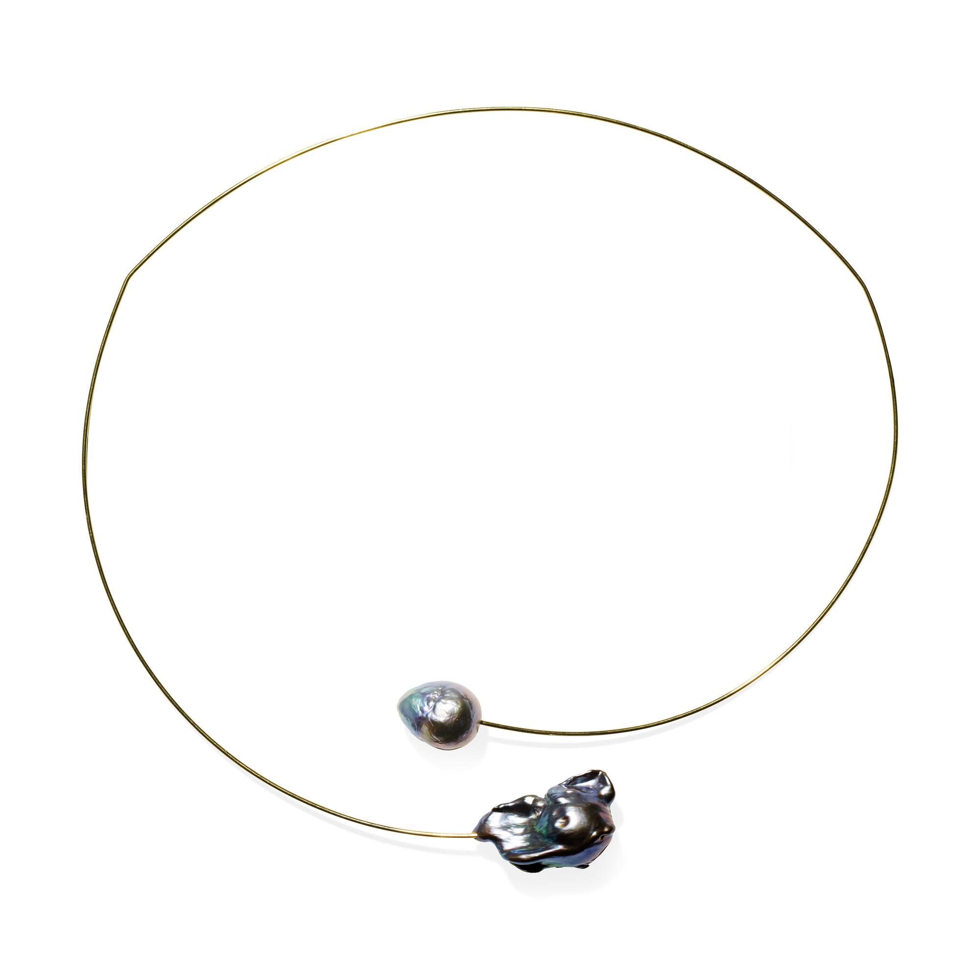 ケシパール ゴールドワイヤー ネックレスの商品画像