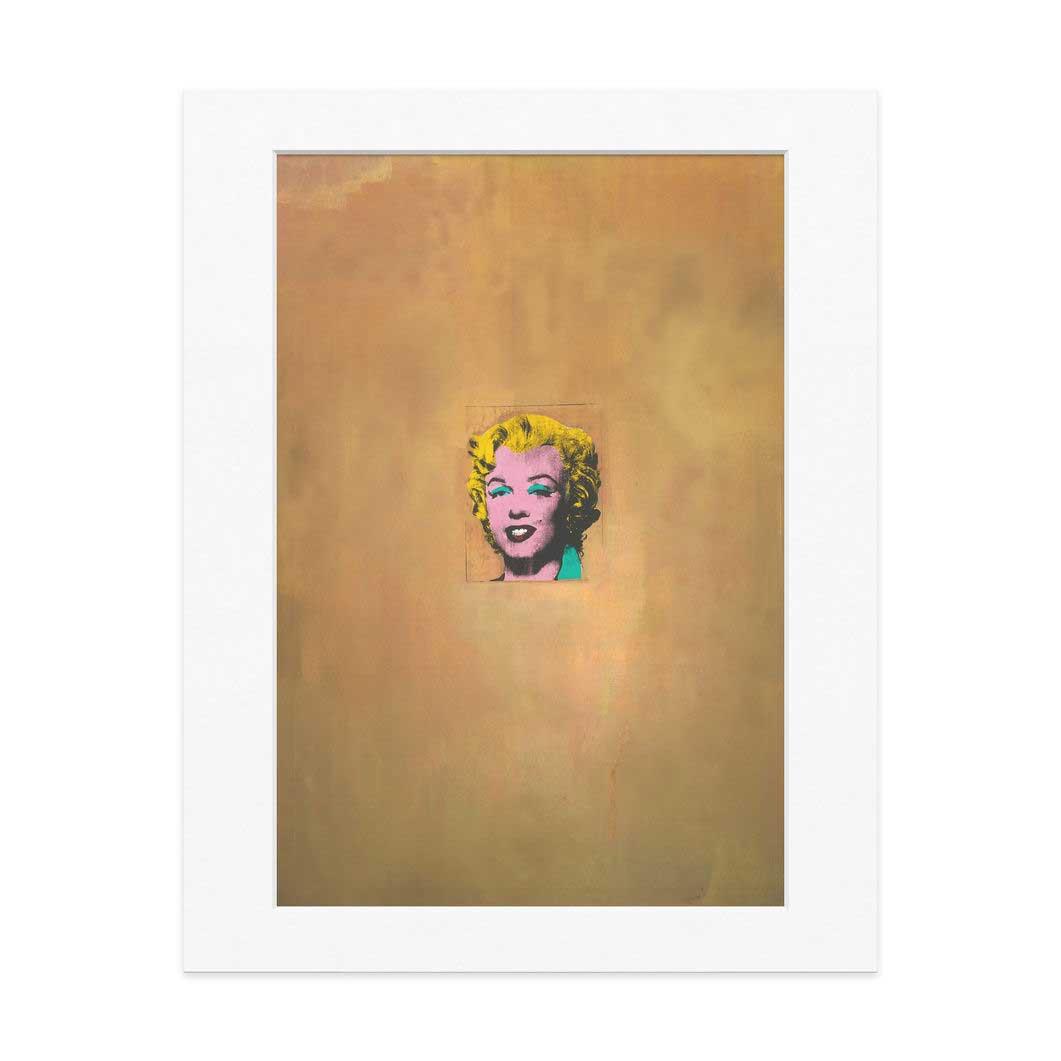 ウォーホル:Gold Marilyn Monroe 11x14 マット付の商品画像