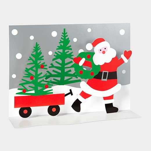 MoMA クリスマスカード サンタのワゴンの商品画像