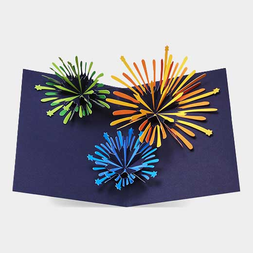 MoMA クリスマスカード ファイヤーワークスの商品画像