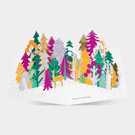 MoMA クリスマスカード カラフルフォレストの商品画像