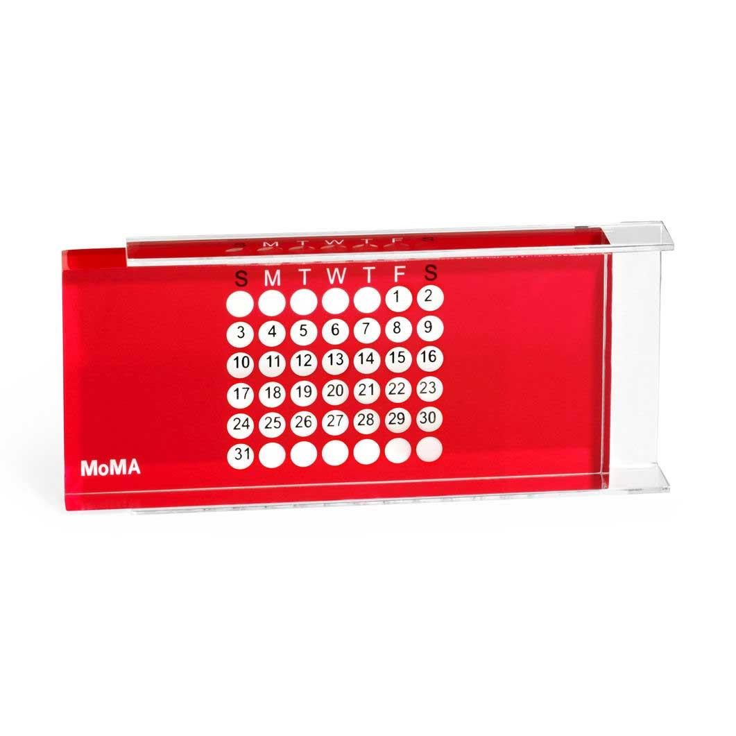 MoMA アクリル万年カレンダー レッドの商品画像