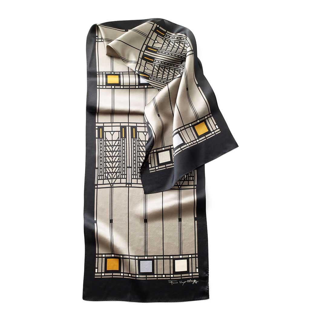 MoMA FLW ツリーオブライフ スカーフ ブラックの商品画像