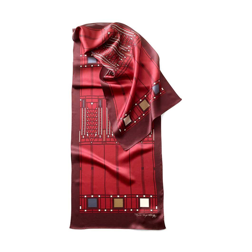 MoMA FLW ツリーオブライフ スカーフ レッドの商品画像