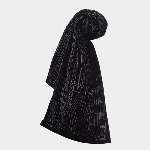 MoMA インペリアルホテル ベルベット スカーフ ブラックの商品画像