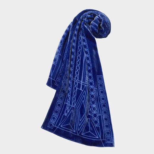 MoMA インペリアルホテル ベルベット スカーフ ブルーの商品画像
