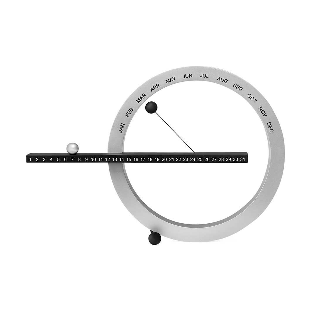 MoMA パーペチュアルカレンダー S ブラック/シルバーの商品画像