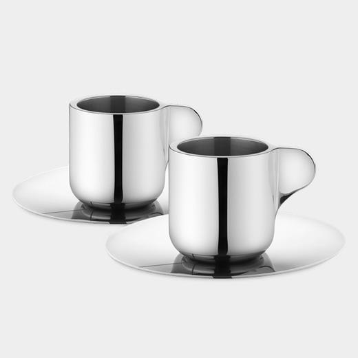 Georg Jensen エスプレッソカップ&ソーサー(2客セット)の商品画像