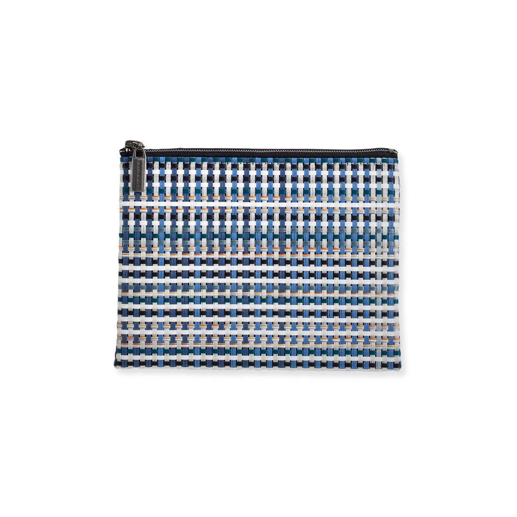 Chilewich グリッド ポーチ M ブルーの商品画像