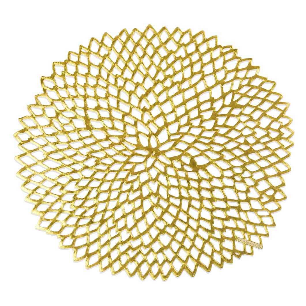 Chilewich ダリアマット ゴールドの商品画像