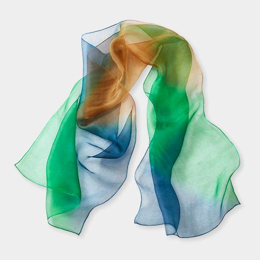 ダブルオーガンジー スプレーバイヤス スカーフの商品画像