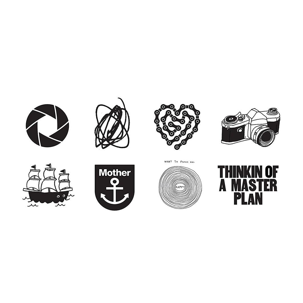 TATTLY テンポラリー タトゥー ブラックセットの商品画像