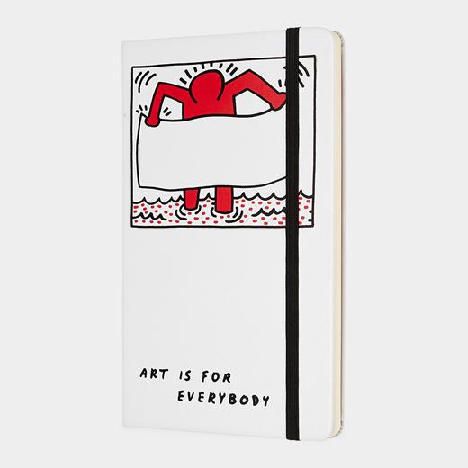 Moleskine 限定版 キース・ヘリング ノートブック プレーン ラージの商品画像