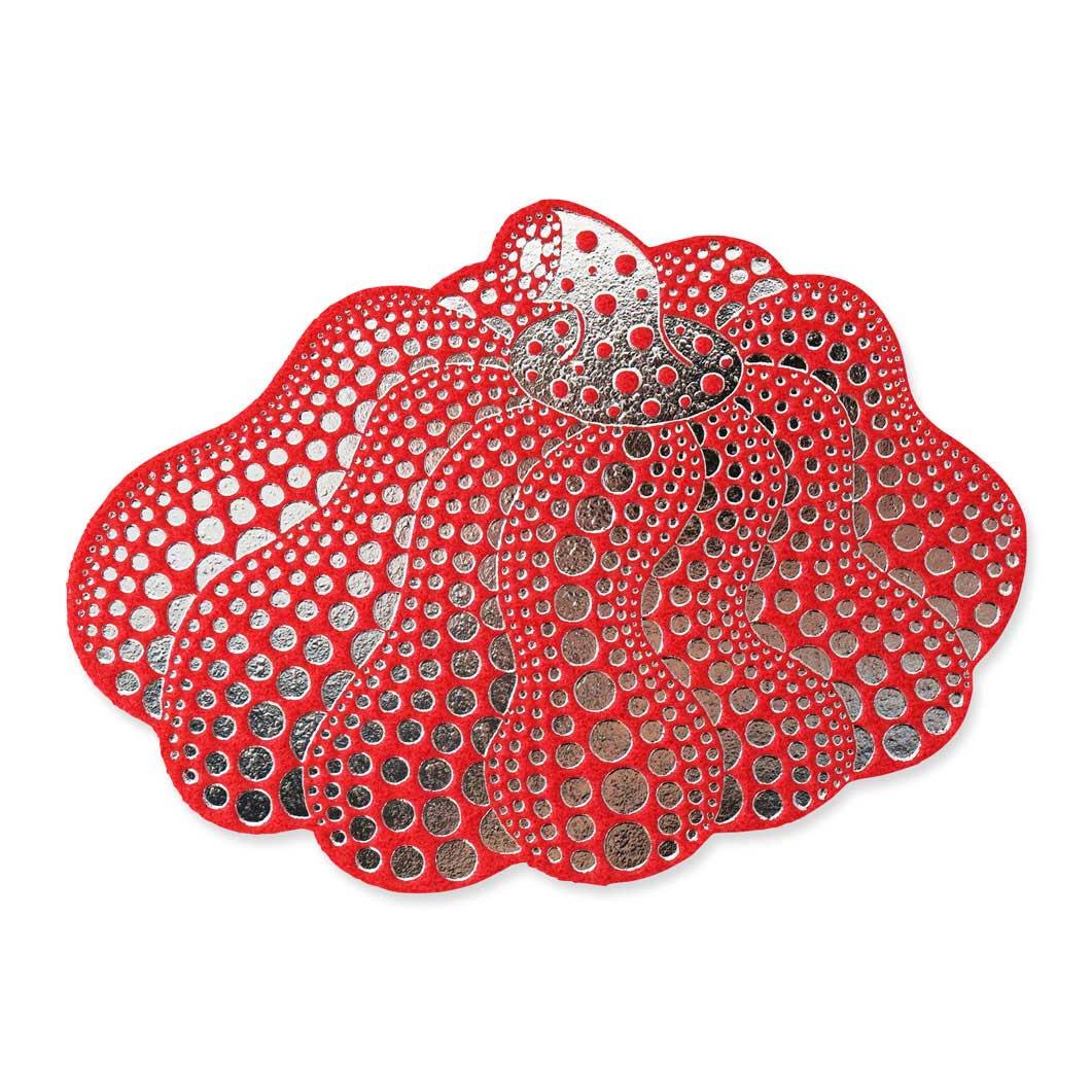 草間彌生:ポストカード ダンシングパンプキン レッドの商品画像