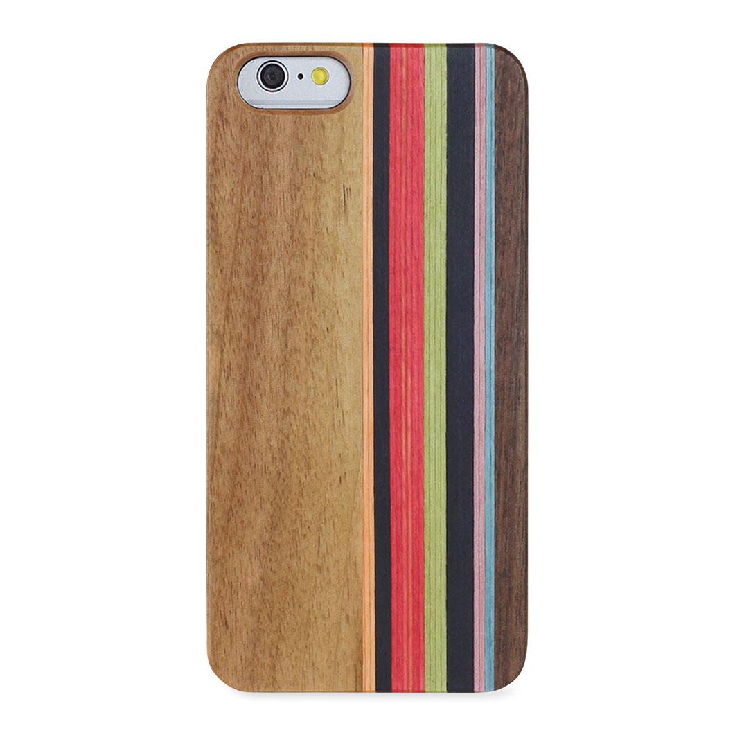 <MoMA> ナチュラルウッド iPhone 7 ケース ストライプ・ウォルナット