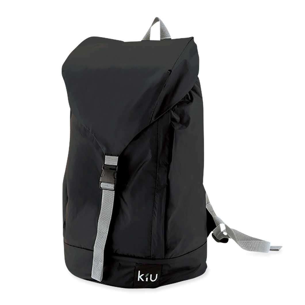 KiU パッカブル レイン バックパック ブラックの商品画像