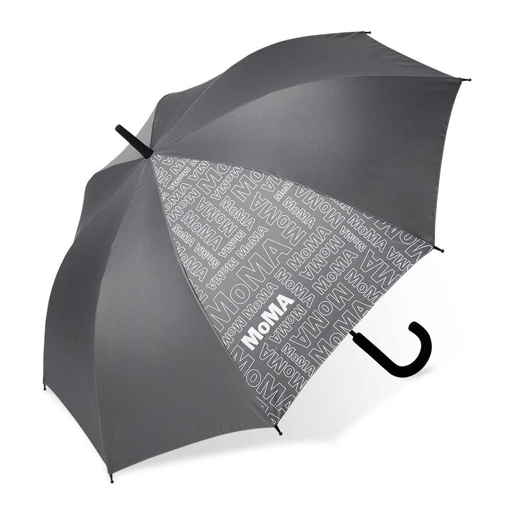 MoMA ロゴプリント アンブレラ グレーの商品画像