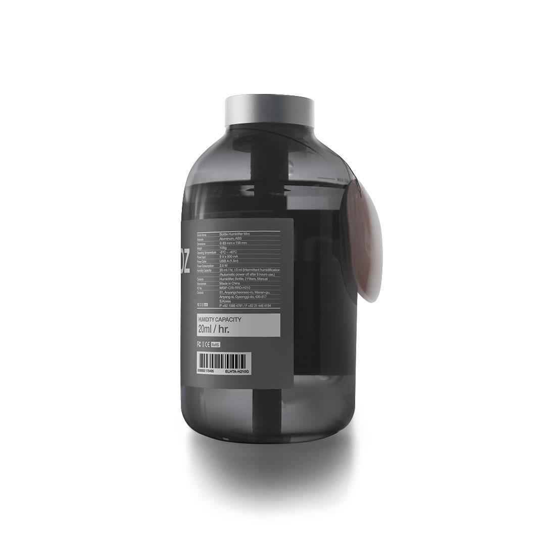 11+ ボトル USB加湿器 ミニ ブルーグレーの商品画像