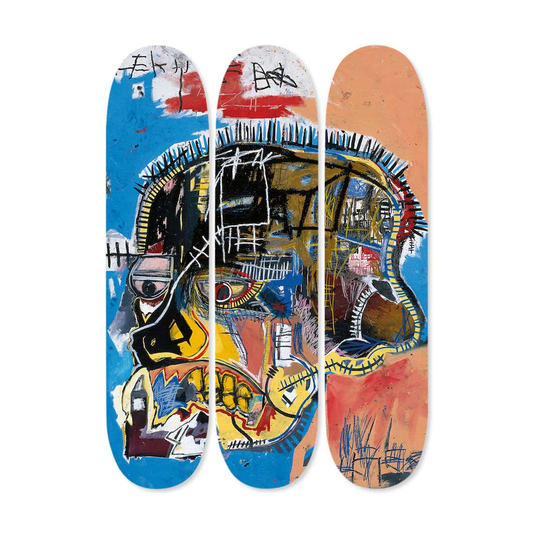 バスキア:Triptych Skull スケートボードの商品画像