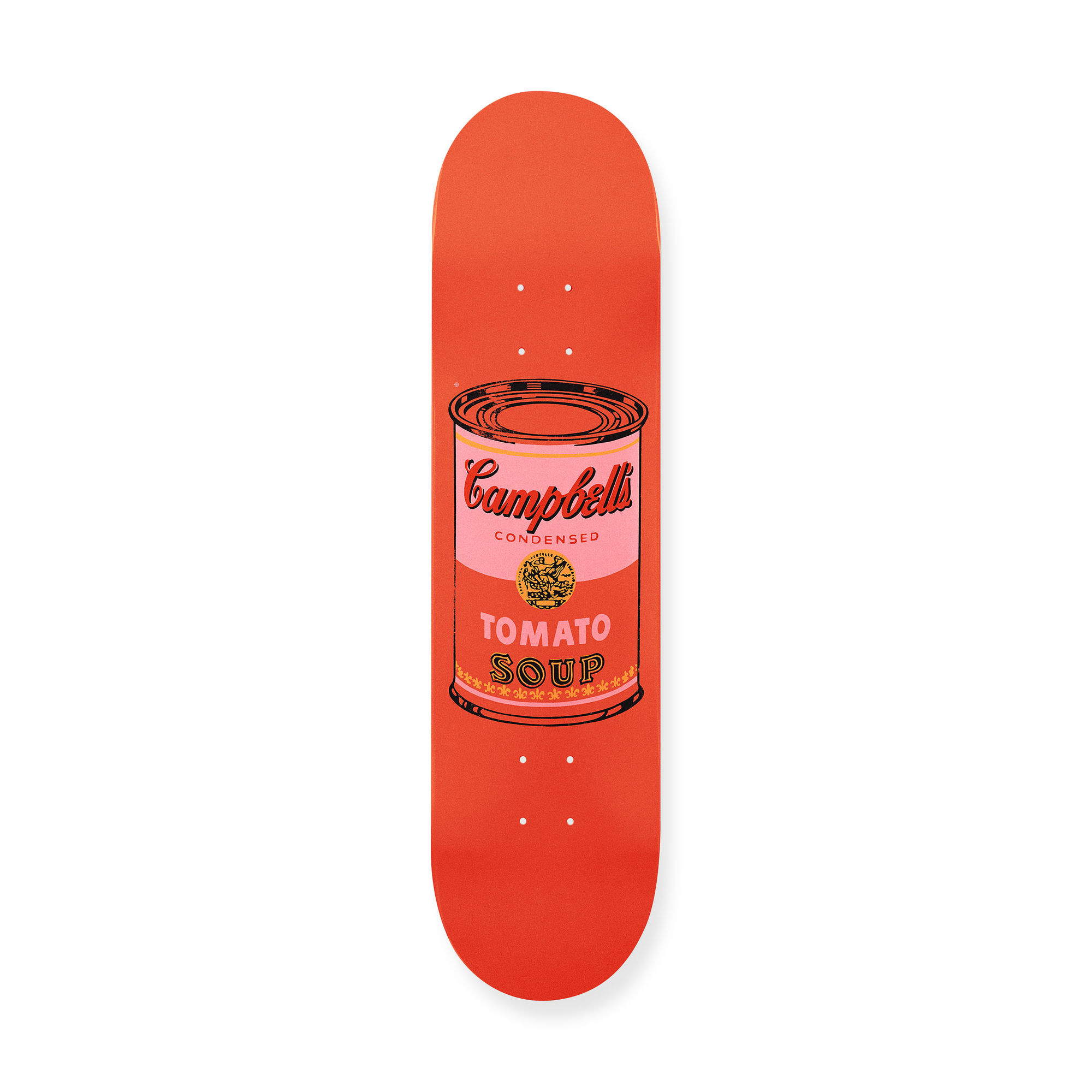 MoMA STOREウォーホル:スケートボードColored Campbell's Soup Cans Peach
