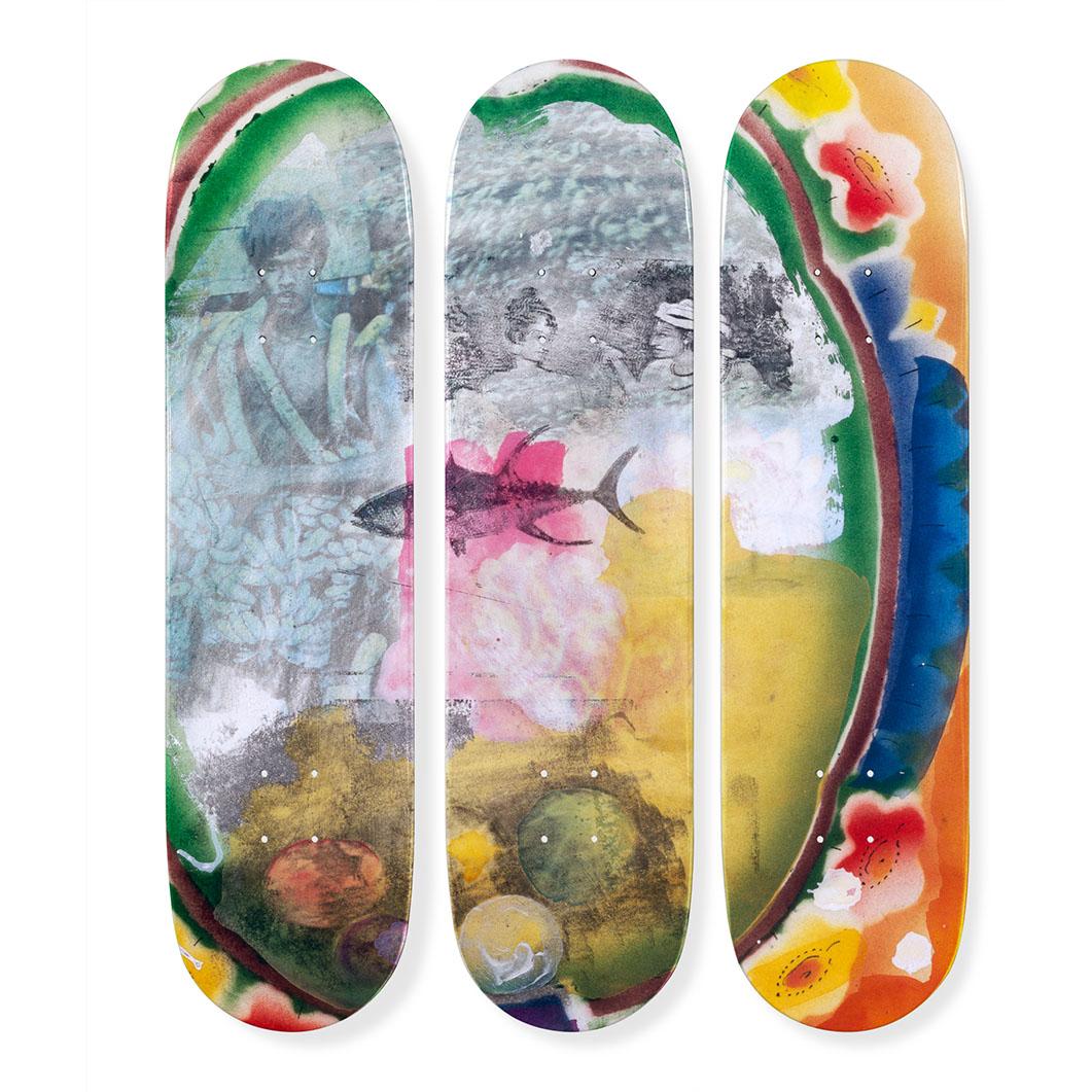 ロバート・ラウシェンバーグ:スケートボード Tryptch Sri Lanka VIの商品画像