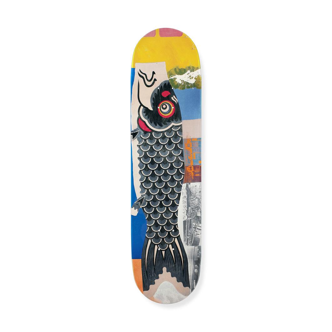 ロバート・ラウシェンバーグ:スケートボード Double Luck Fishの商品画像
