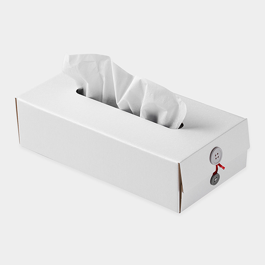 <MoMA> Button Tissue Box ホワイト