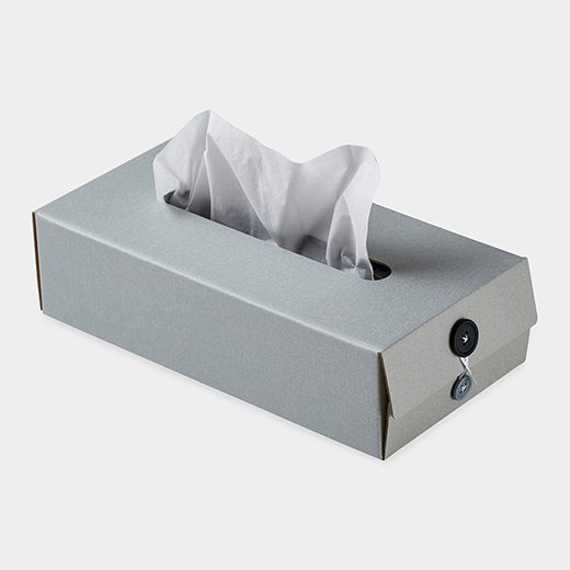 <MoMA> Button Tissue Box グレー